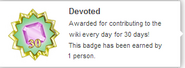 Devoted (earned hover)