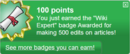 Wiki Expert (earned)