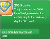 Wiki Hero! (earned)