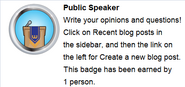 Public Speaker (req hover)