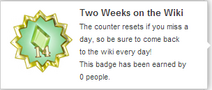 Two Weeks on The Wiki (un-hover)