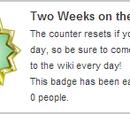 Deux semaines sur le Wiki