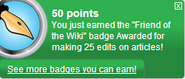 Friend of the Wiki (earned)
