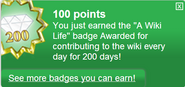 A Wiki Life (earned)