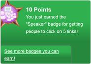 Speaker (earned)