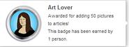 Art Lover (earned hover)