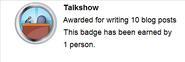 Talkshow (earned hover)