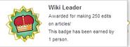 Wiki Leader (earned hover)