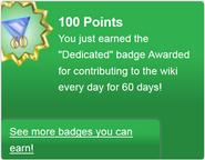 Dedicated (earned)