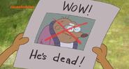 WOW! He's dead