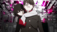 Ougi wraps around Koyomi
