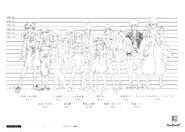 Bakemonogatari Concept Art - Characters Heights