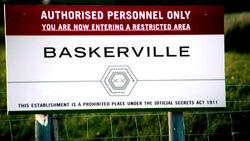 Baskerville base sign