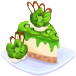 Oven-Kiwi Cheesecake plate