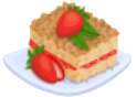 Oven-Strawberry Coffee Cake plate