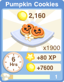 Bakery oven pumpkincookies