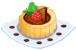 Oven-Chocolate Tart plate