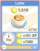 Bakery drink Latte