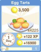 Bakery oven eggtarts