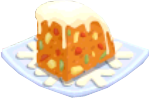 Oven-Fruitcake plate