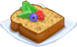 Oven-Banana Bread plate