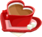 Drink Mixer-Heart Coffee plate