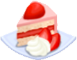 Oven-Strawberry Cake plate