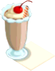 Drink Mixer-Chocolate Milkshake plate