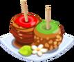 Oven-Caramel Apple plate