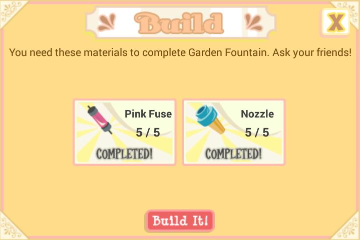 Garden Fountain Material