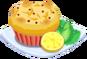 Oven-Lemon Muffin plate