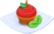 Oven-Apple Cupcake plate