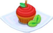 Oven-Apple Cupcake plate