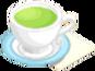 Drink Mixer-Matcha plate