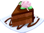 Oven-Chocolate Cake plate
