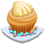 Oven-Seashell Cupcakes plate