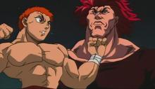 Baki vs yujiro