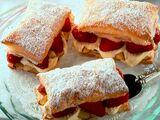 Strawberry-Almond Cream Napoleons