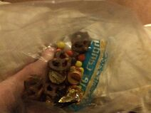 Chocolate pretzels and candy