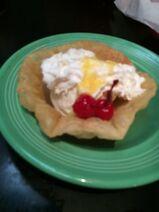Don Pablo's dessert with ice cream
