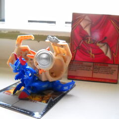 Aquos Helix Dragonoid with Silver Rock Hammer with Ability Card in back