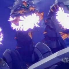 Razen Titan charging an attack