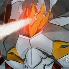 Zenthon Titan firing the laser on his forehead