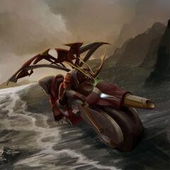 Titanium Dragnoid riding on Zoompha