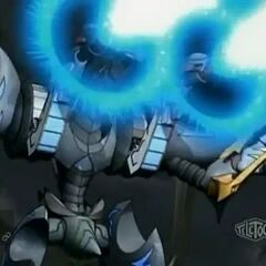 Venexus firing a laser beam