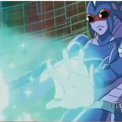 Akwimos using <b>Heal Blue</b>