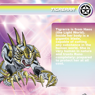 Tigrerra's description in Bakugan Battle Brawlers.