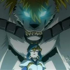 Lumagrowl protecting Kazarina from <a href=