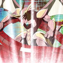 Deskron Gear attacking Drago