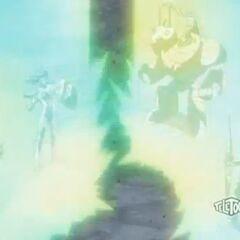 Wolfurio, Taylean, Trister, and Boulderon summoning their Mechtogan